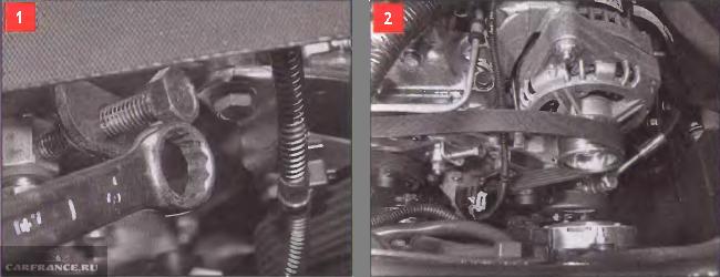 Регулируем натяжение ремня генератора на ВАЗ 2123