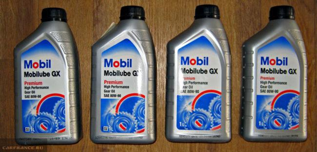 Трансмиссионное масло Mobil Mobilube GX 80W90 GL4