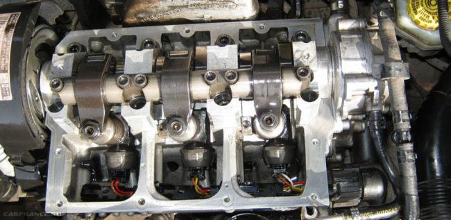 Двигатель после промывки вручную