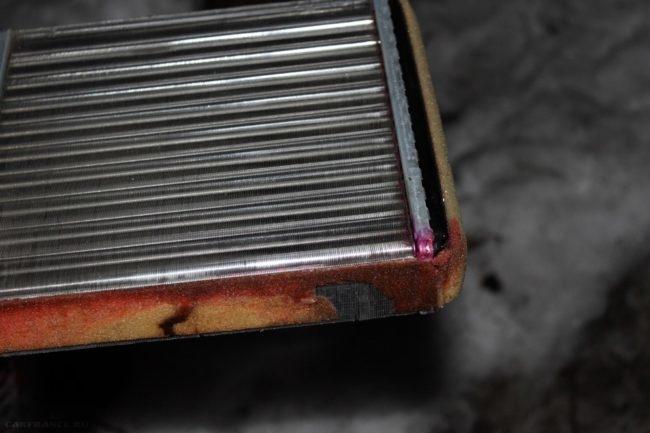 Радиатор отопителя потёк на Шевроле Нива