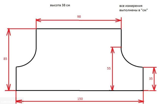 Точные размеры багажника седана Лада Приора в см