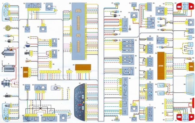 Электрическая схема Нива Шевроле