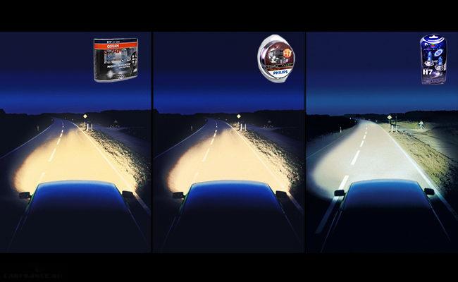 Сравнение свечения газонаполненных ламп для ВАЗ-2114