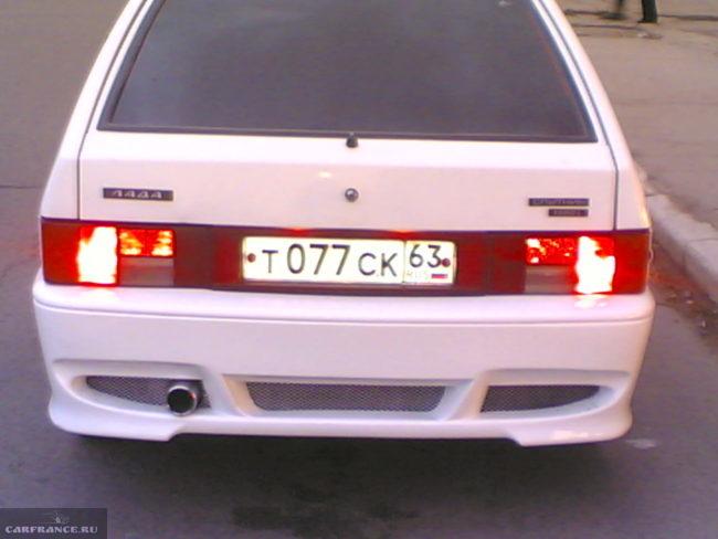 tuning zad bamper 650x488 - Установка заднего бампера на ваз 2114