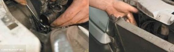 Демонтаж патрубков и крепления радиатора Нива Шевроле