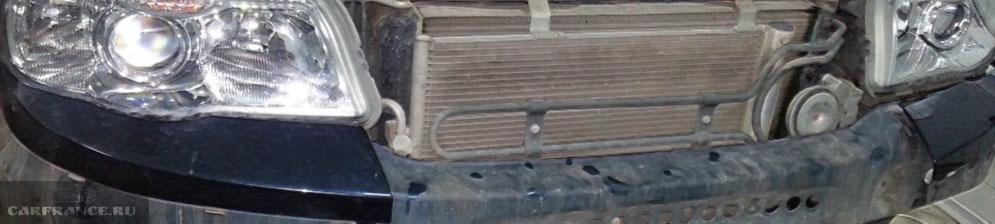 В процессе замены радиатора на Шевроле Нива
