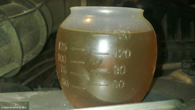 Замер расхода масла в двигателе на Шевроле Нива