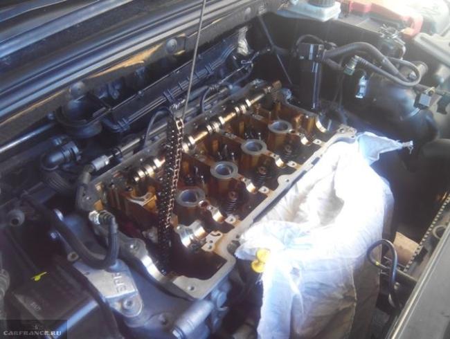 ГРМ мотора Пежо 308 без валов