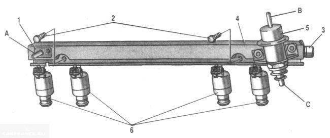 Топливная рампа ДВС ВАЗ 2123