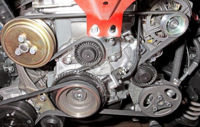 Привод генератора ДВС ВАЗ 2123