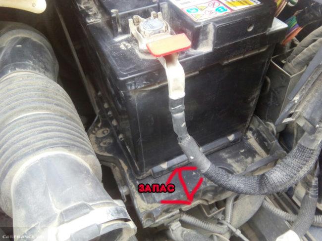 Запас размера стандартного аккумулятора на Пежо 308