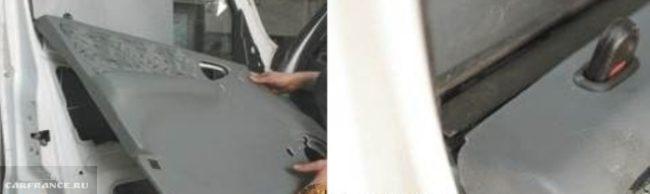 Процесс демонтажа обшивки передней двери Нива Шевроле