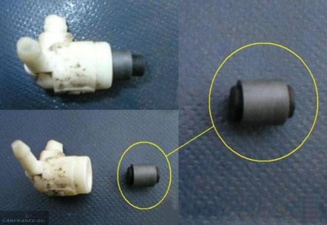 Процесс чистки поршня и клапана омывателя Пежо 308