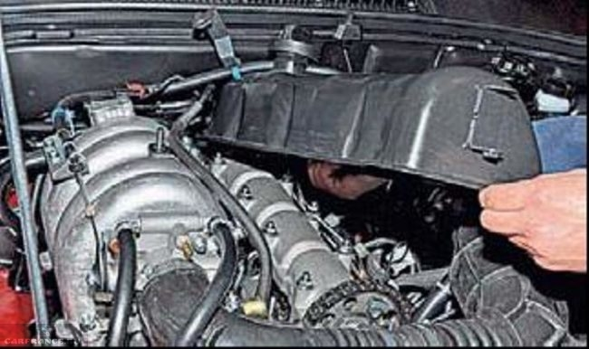 Демонтаж крышки головки блока цилиндров Нива Шевроле