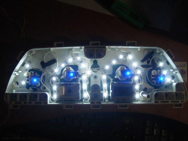 Подсветка приборной панели ВАЗ 2114