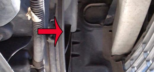 Вентилятор охлаждения двигателя на Пежо 308 вблизи