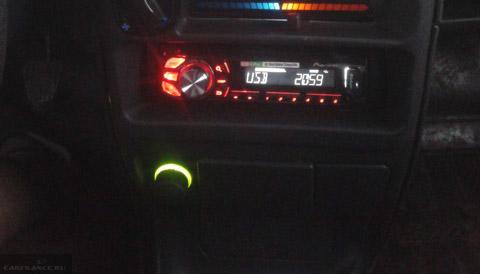 Подсветка прикуривателя и магнитола на ВАЗ-2114