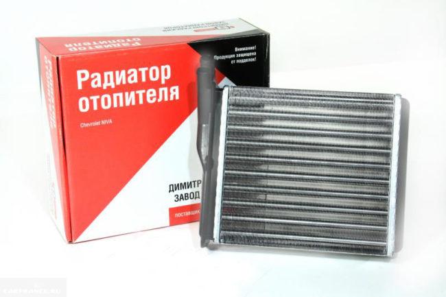 Новый радиатор отопителя Нива Шевроле с упаковкой