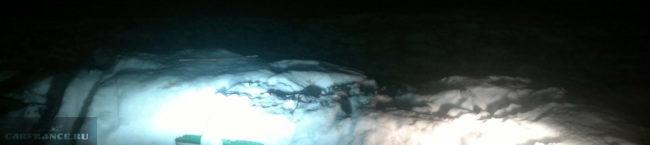 Свет Лед-лампы и галогеновой на ВАЗ-2114 в ближнем свете
