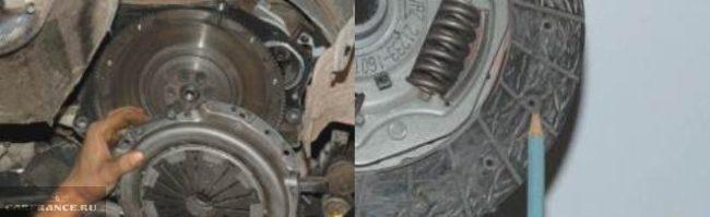 Демонтаж нажимного и ведомого дисков сцепления Нива Шевроле