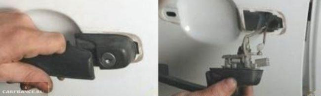 Процесс демонтажа наружной ручки двери Нива Шевроле