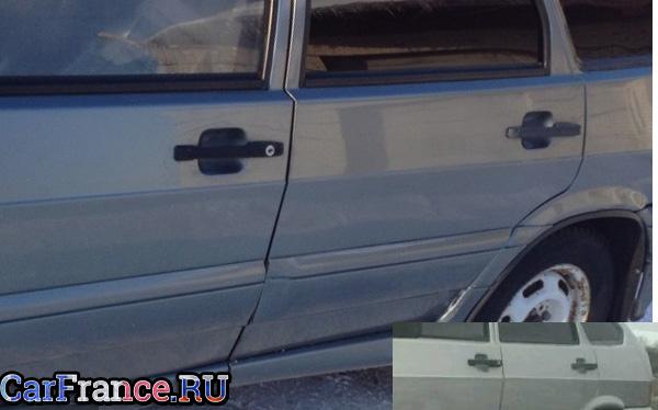 Стандартная ручка открытия двери ВАЗ-2114