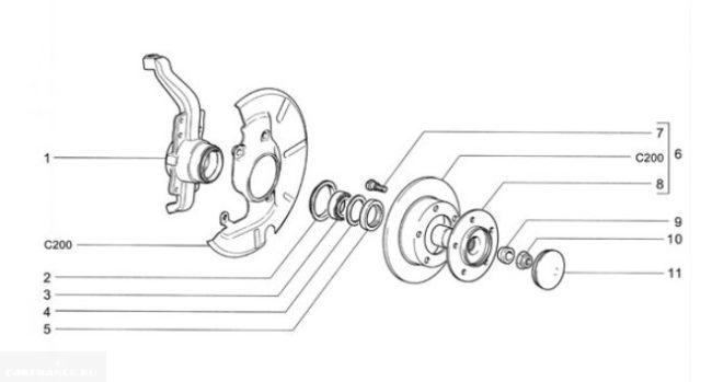 Деталировка ступицы Нива Шевроле, схема