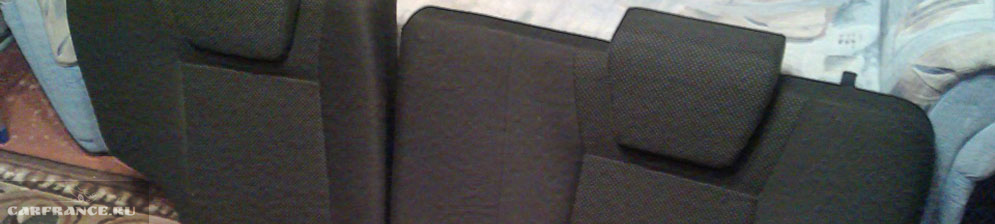 Задние сидения сняты на Шевроле Нива