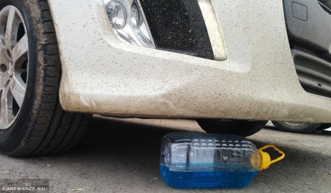 Клиренс Пежо 308 у переднего бампера