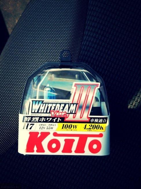 KOITO Whitebeam H7 12V-55W лампы ближнего света