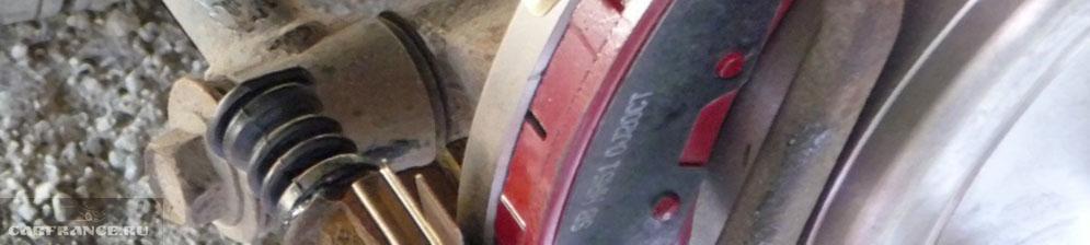 Замена задних тормозных колодок на Sangsin Hardron HP1257 Шевроле Лачетти