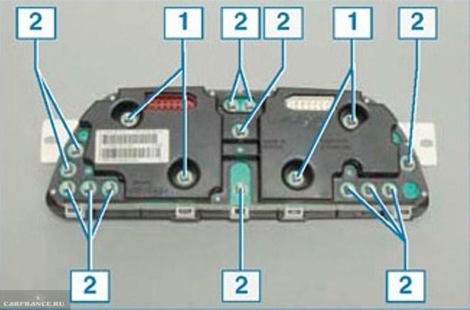 Как поменять лампочки на панели приборов Нива Шевроле видео Лампы комбинации приборов 1 лампы подсветки 2 контрольные лампы