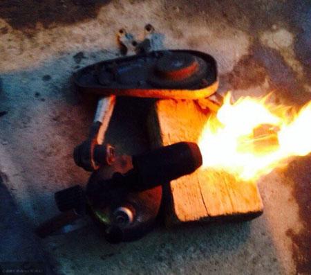 Выжигание сайлентблока из рычага Шевроле Нива