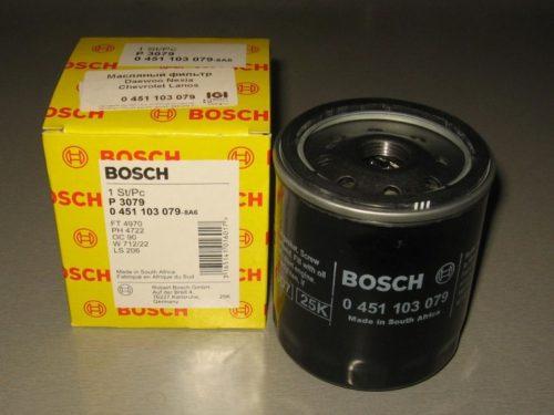 Новый фильтр очистки масла Вosch 0451 103 079 с упаковкой для Шевроле Лачетти