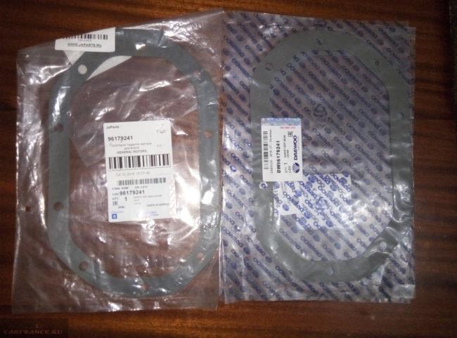 96179241 прокладка поддона коробки передач на Шевроле Ланос