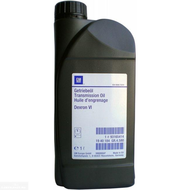 Трансмиссионное масло GM Dexron VI в канистре 1л для гидроусилителя руля Шевроле Лачетти