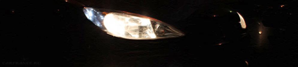 Ближний свет на Пежо 206