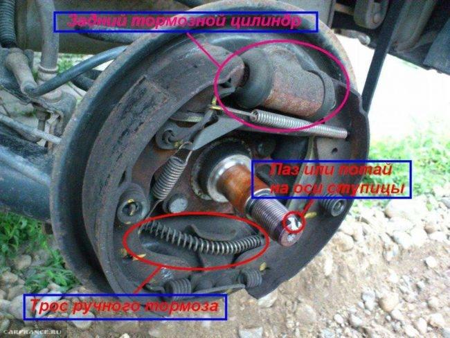 Схема демонтажа задних тормозных колодок на Шевроле Авео