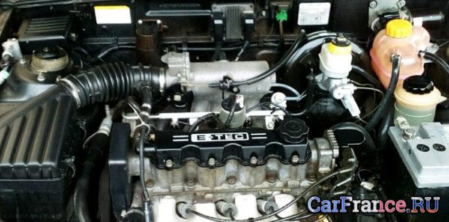 Двигатель на Шевроле Ланос