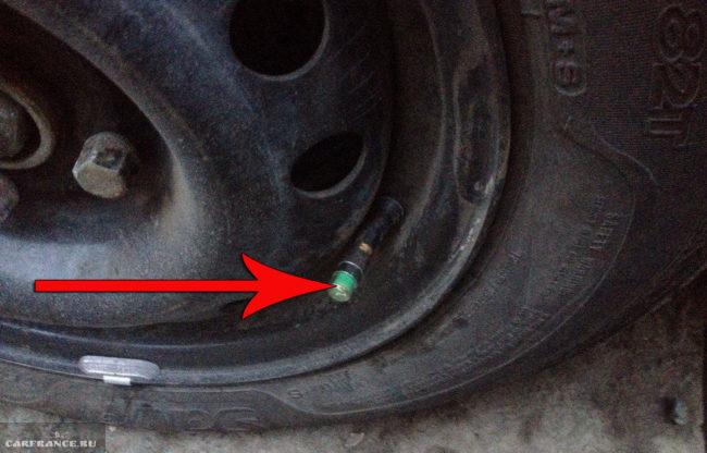 Индикатор давления в шине на Шевроле Ланос