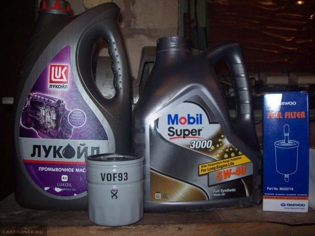 Комплект для замены масла на Шевроле Ланос