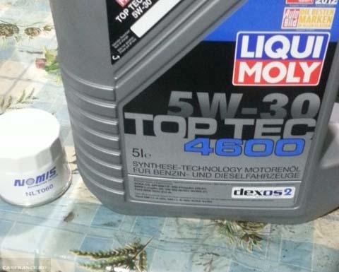Моторное масло Шевроле Кобальт Liqui Moly 5w-30 dexos 2