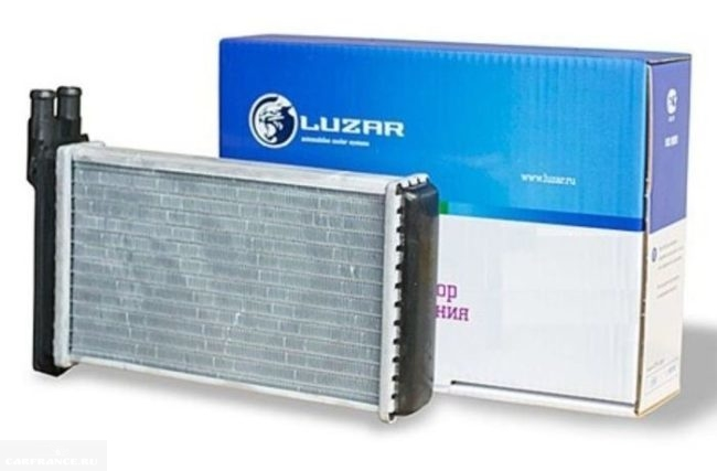 Новый с упаковкой алюминиевый радиатор отопителя Luzar Шевроле Лачетти
