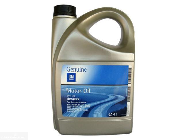 Моторное масло GM Dexos2 LongLife SAE 5W30 в канистре 4 литра для Шевроле Лачетти