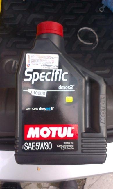 Моторное масло Шевроле Кобальт Motul Specific 5w-30