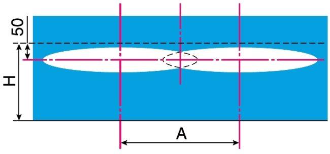 Разметка для регулировки света фар Шевроле Лачетти
