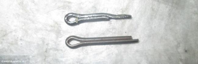 Шплинты на тормозной механизм заднего колеса Шевроле Ланос