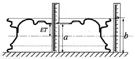Схема вылета диска