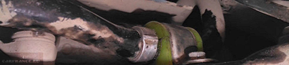 Осмотр на скрип втулки стабилизатора на Лада Веста