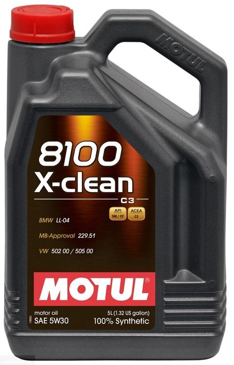 Моторное масло Motul 8100 x-clean